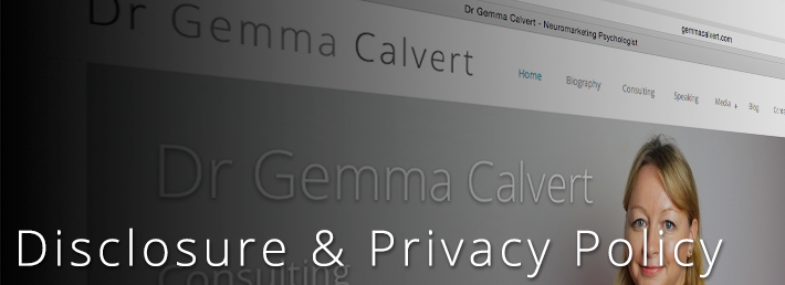 Dr Gemma Calvert's Privacy Policy